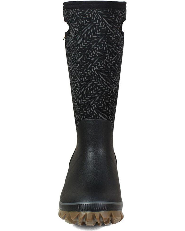 Bogs Women's Whiteout Fleck Rubber Boots - Round Toe, Black, hi-res