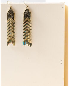 Shyanne Women's Gilded Gold Fringe Earrings, Gold, hi-res