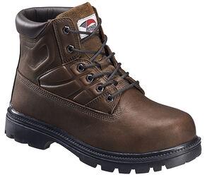 Avenger Men's Brown EH Lace-Up Met Guard Work Boots - Steel Toe, Brown, hi-res