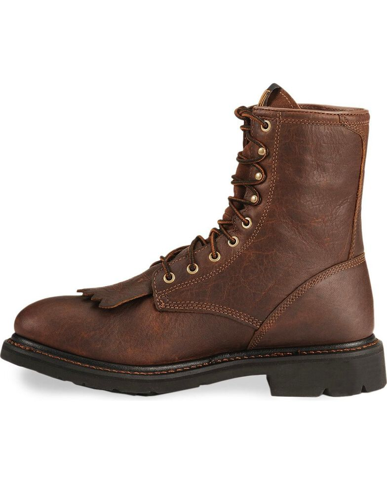 """Ariat Waterproof Cascade H20 8"""" Lace-Up Work Boots - Round Soft Toe, Sunshine, hi-res"""