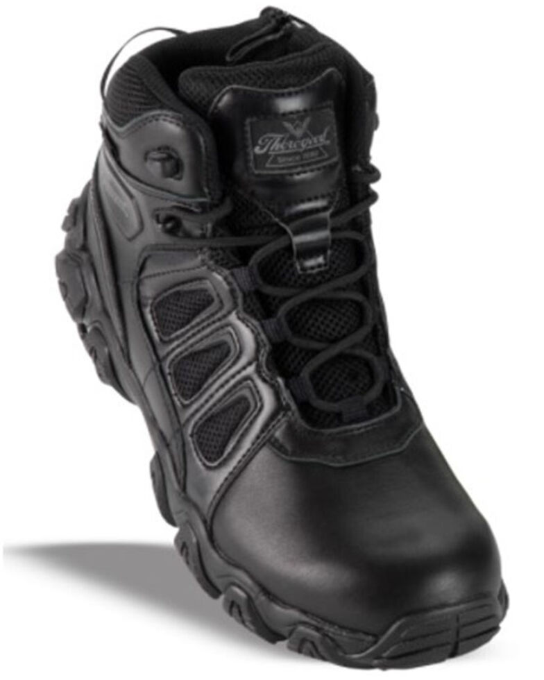 "Thorogood Men's 6"" Crosstrex Pathogen Work Boots - Composite Toe, Black, hi-res"
