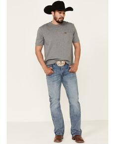 Rock 47 By Wrangler Men's Urban Light Stretch Slim Bootcut Jeans , Blue, hi-res