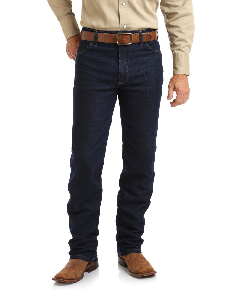 Wrangler Men's Cowboy Cut Active Flex Indigo Dark Bootcut Jeans , Blue, hi-res