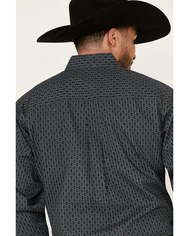 Cinch Men's Black Geo Print Button Long Sleeve Western Shirt , Black, hi-res