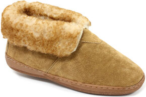 Lamo Footwear Men's Suede Slippers, Chestnut, hi-res