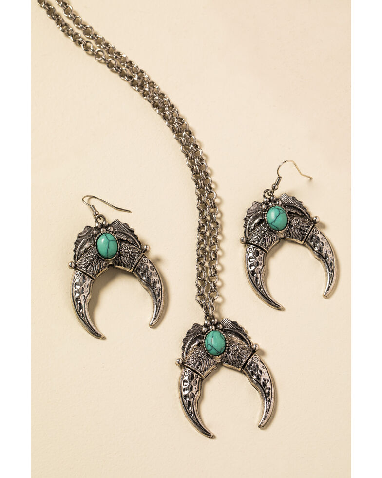 Shyanne Women's In The Oasis Crescent Jewelry Set , Silver, hi-res