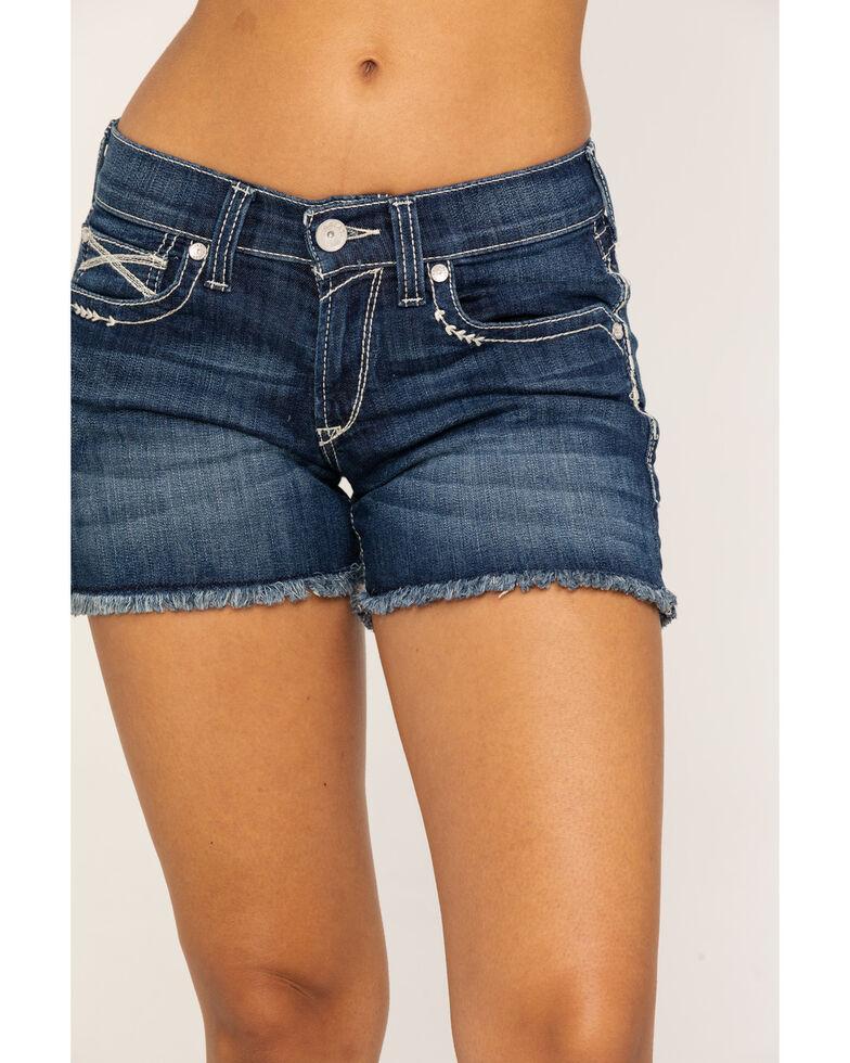 "Ariat Women's Boyfriend 5"" Short Hazel Shorts, Blue, hi-res"