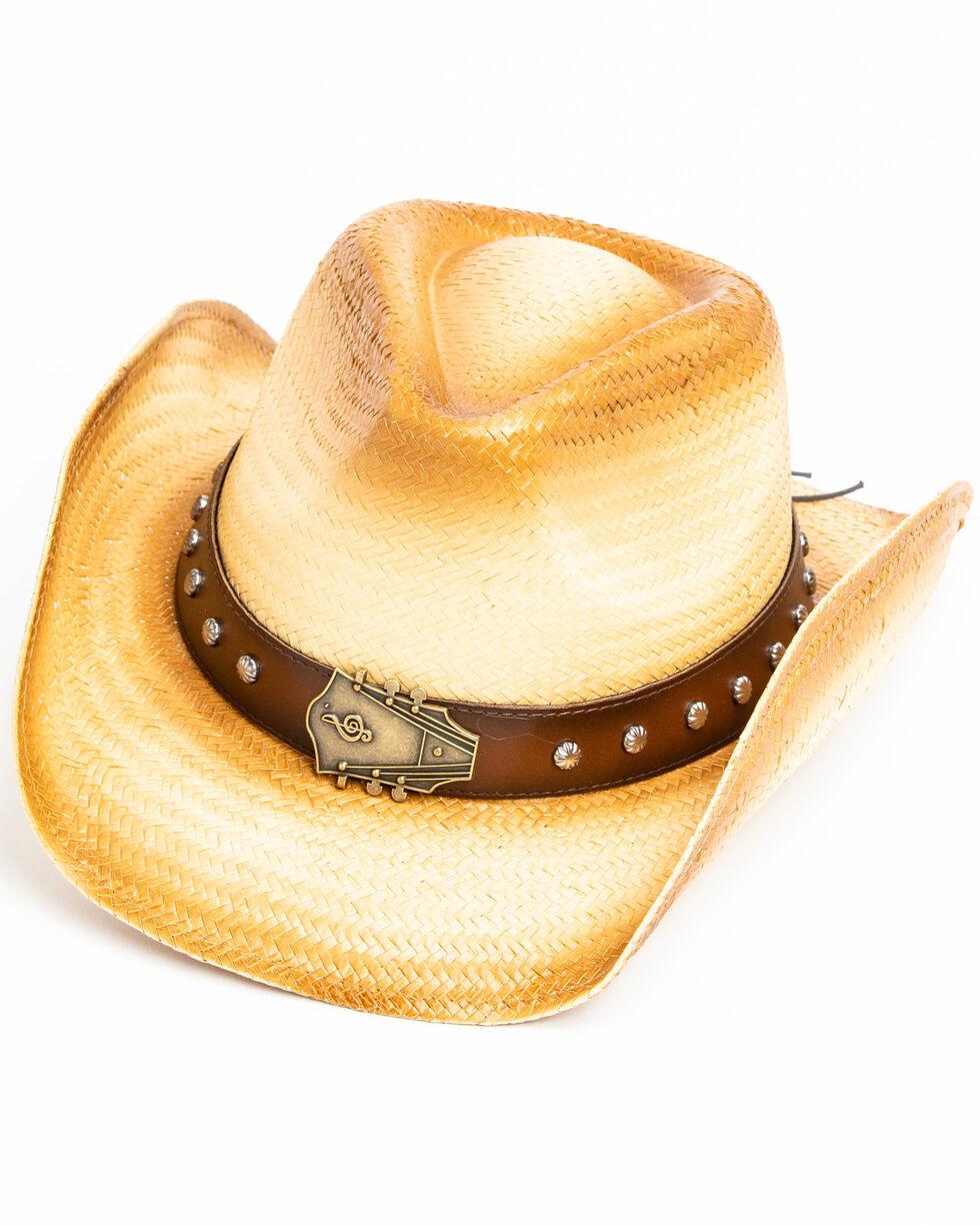 Cody James Men's Elijah Western Straw Hat , Tan, hi-res