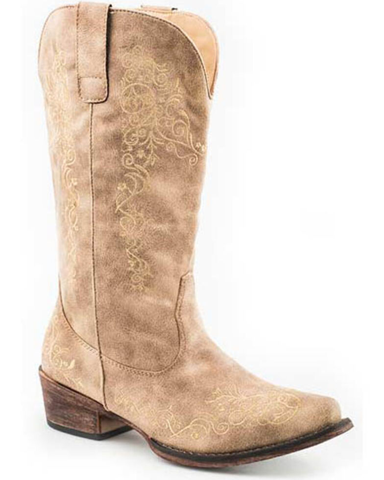 Roper Women's Judith Western Boots - Snip Toe, Tan, hi-res