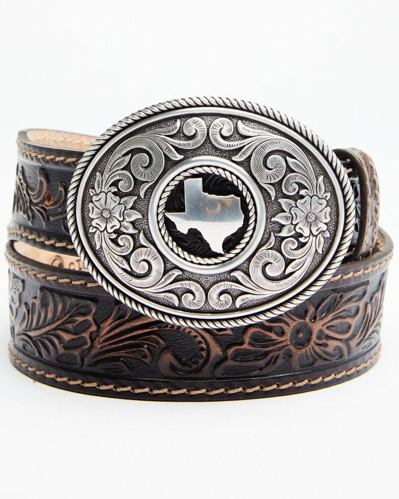 Leegin Men's Triple T Ranch Belt, Brown, hi-res