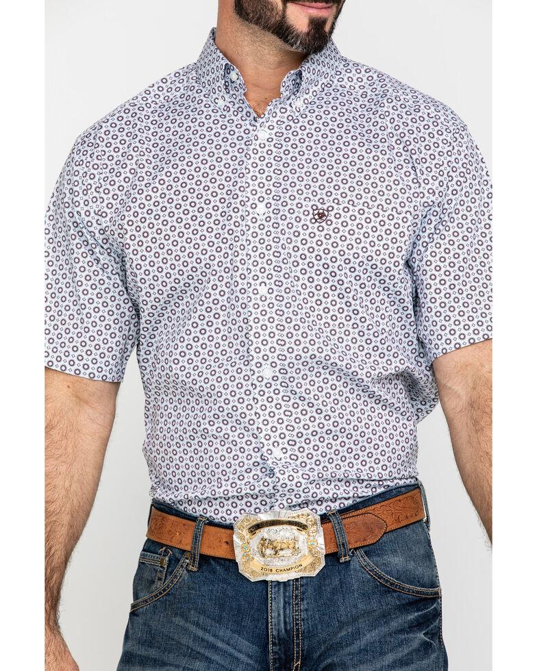 Ariat Men's Lockhart Stretch Geo Print Short Sleeve Western Shirt - Tall , Multi, hi-res