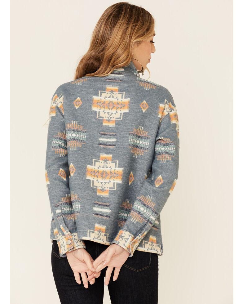Pendleton Women's Aztec Print 1/2 Zip Pullover , Blue, hi-res