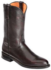 Lucchese Handmade 1883 Lonestar Calf Roper Boots - Round Toe, Black Cherry, hi-res