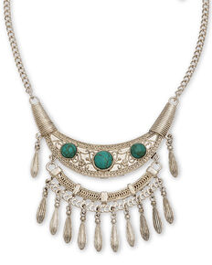Howard's Women's Ornate Stone Bib Necklace, Gold, hi-res
