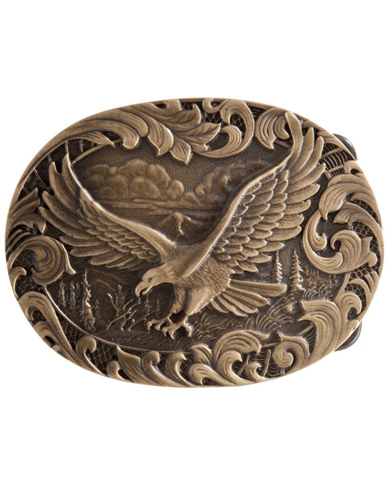 Montana Silversmiths Soaring Eagle Belt Buckle, Brass, hi-res