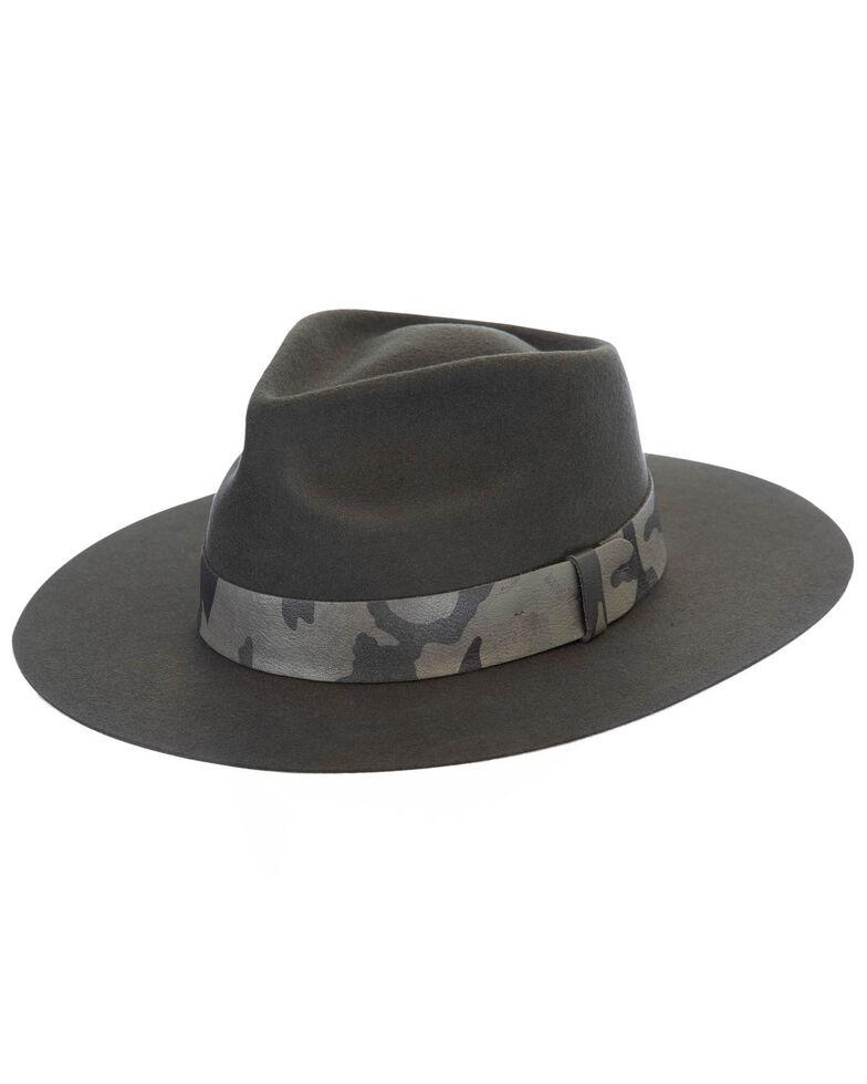 Black Creek Grey Crushable Western Wool Felt Hat , Grey, hi-res