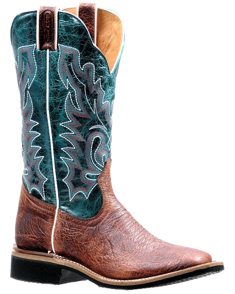 Boulet Women's Square Toe Western Boots, Brown, hi-res