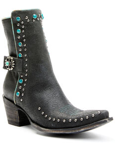 Double D Ranch Women's Winslow Fashion Booties - Snip Toe, Black, hi-res