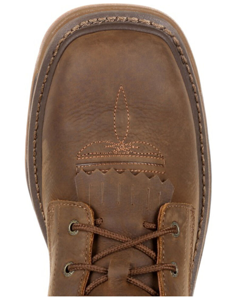 Rocky Men's Iron Skull Waterproof Lacer Work Boots - Soft Toe, Brown, hi-res