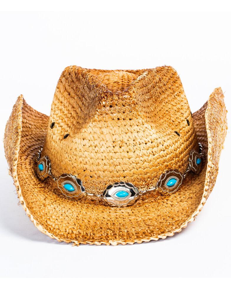 Shyanne Women's Masami Light Brown Cowgirl Hat, Tan, hi-res