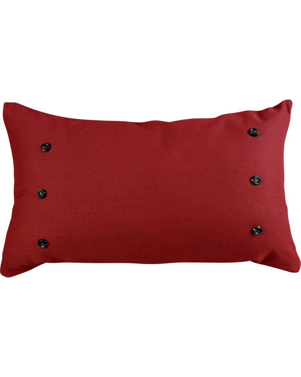 HiEnd Accents Prescott Red Large Pillow, Red, hi-res