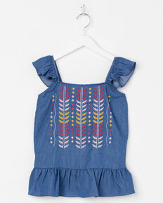 Miss Me Girls' High Road Top, Blue, hi-res