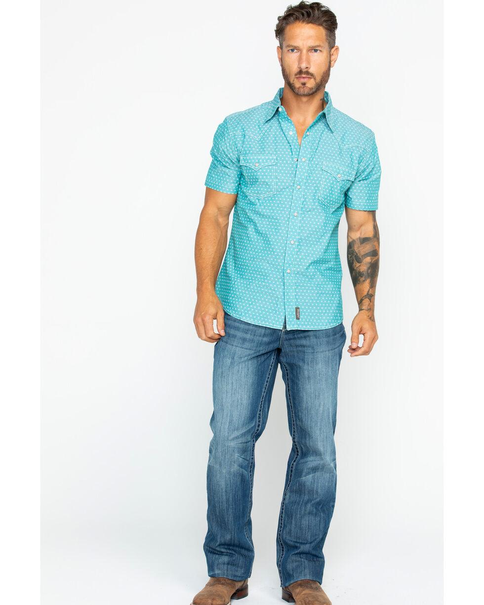 Wrangler Retro Men's Print Short Sleeve Shirt , Green, hi-res