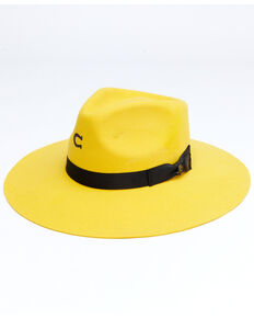 Charlie 1 Horse Women's Yellow Highway Wool Felt Western Hat , Yellow, hi-res
