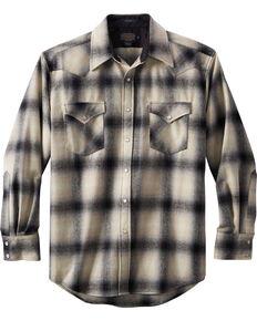 Pendleton Men's Canyon Ombre Plaid Shirt , Black, hi-res