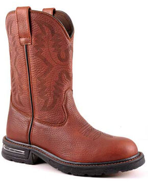 Roper Men's Cotter Western Boots - Round Toe, Brown, hi-res
