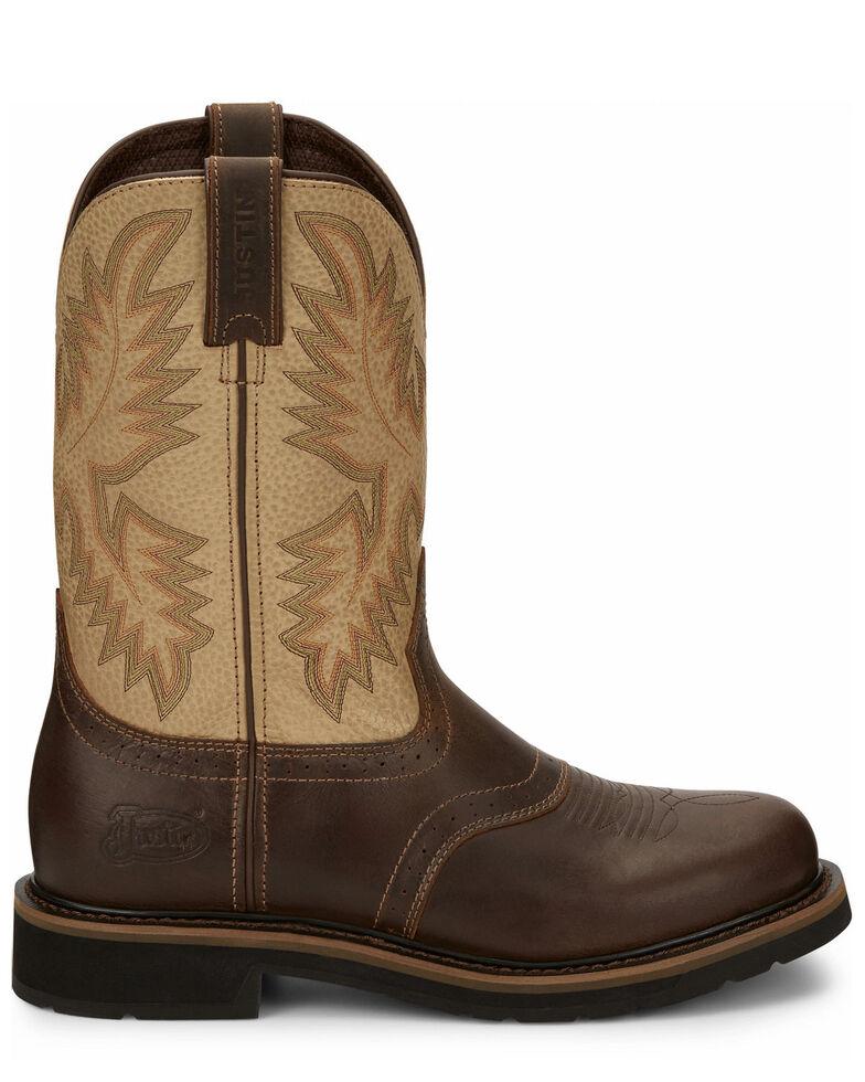 Justin Men's Superintendent Western Boots - Square Toe, Brown, hi-res