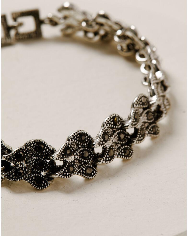 Howard's Women's Filigree Stone Link Bracelet, Silver, hi-res