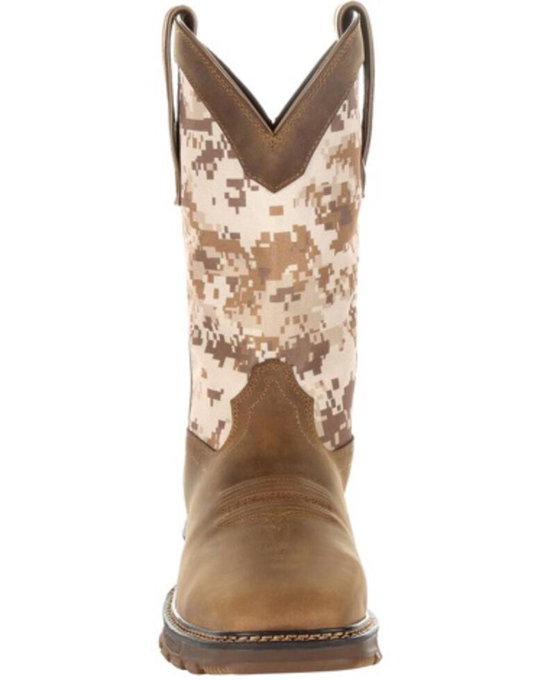 Durango Men's Camo Maverick XP Waterproof Western Work Boots - Steel Toe, Brown, hi-res