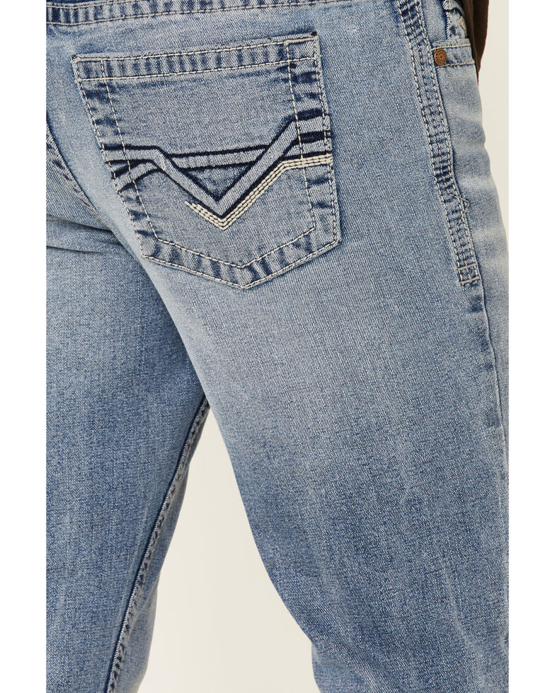 Cody James Men's Flash Light Wash Stretch Relaxed Bootcut Jeans , Blue, hi-res