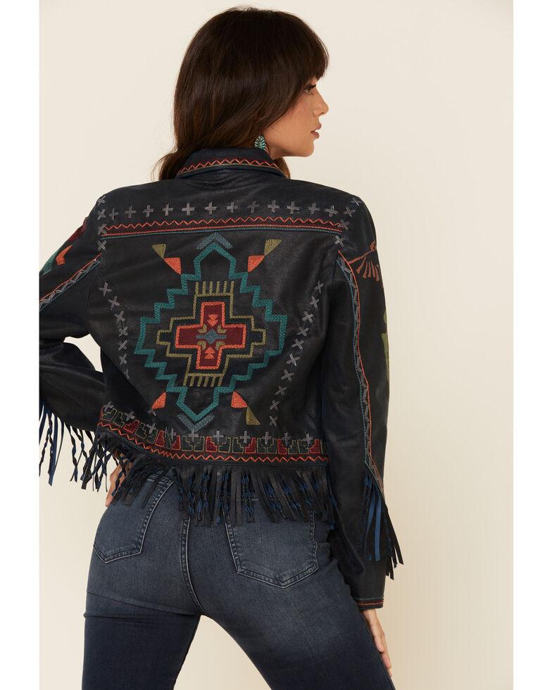 Double D Ranch Women's San Ysidro Cross Jacket , Blue, hi-res