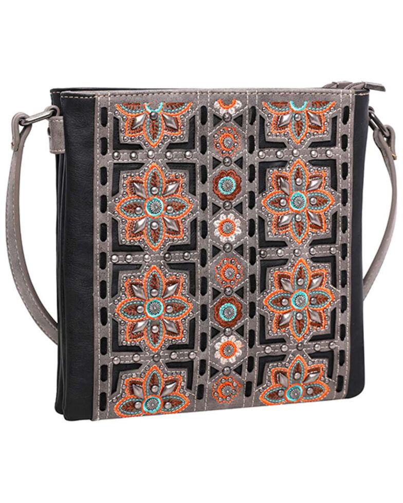 Montana West Women's Embroidered Floral Crossbody Bag, Black, hi-res
