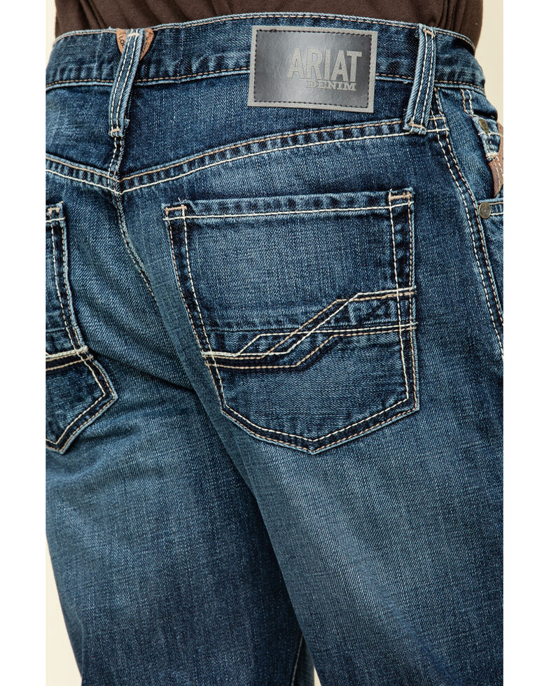 Ariat Men's M3 Bradford Dark Stackable Loose Straight Jeans , Blue, hi-res