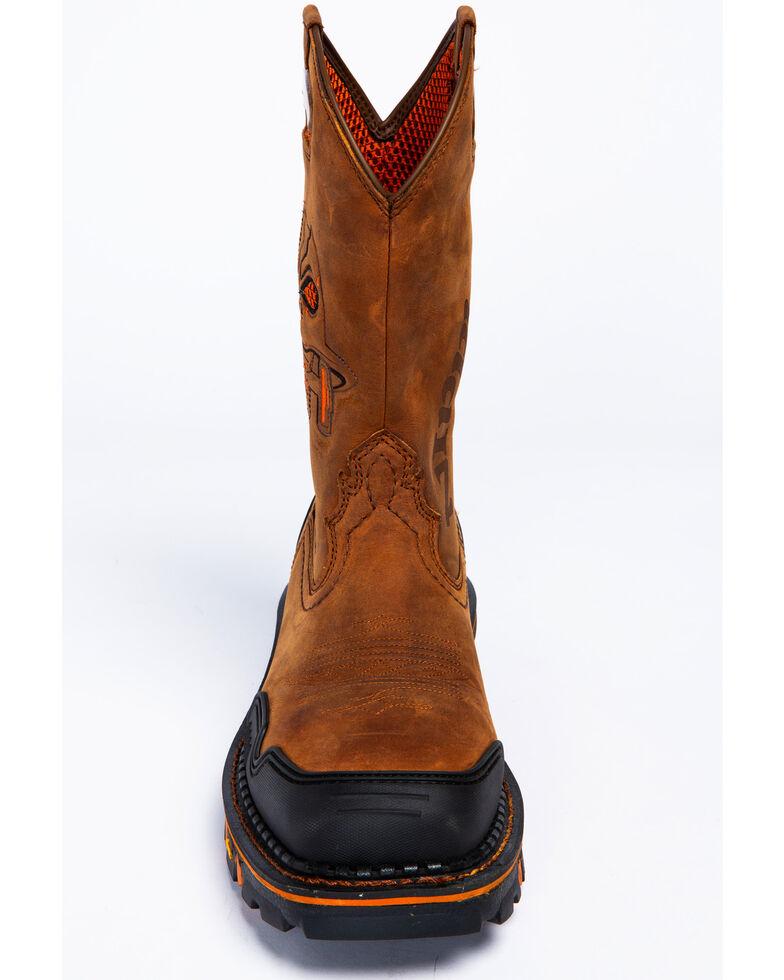 Cody James Men's Decimator Skull Western Work Boots - Nano Composite Toe, Brown, hi-res