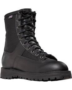 """Danner Men's 8"""" Acadia Uniform Boots - Steel Toe , Black, hi-res"""