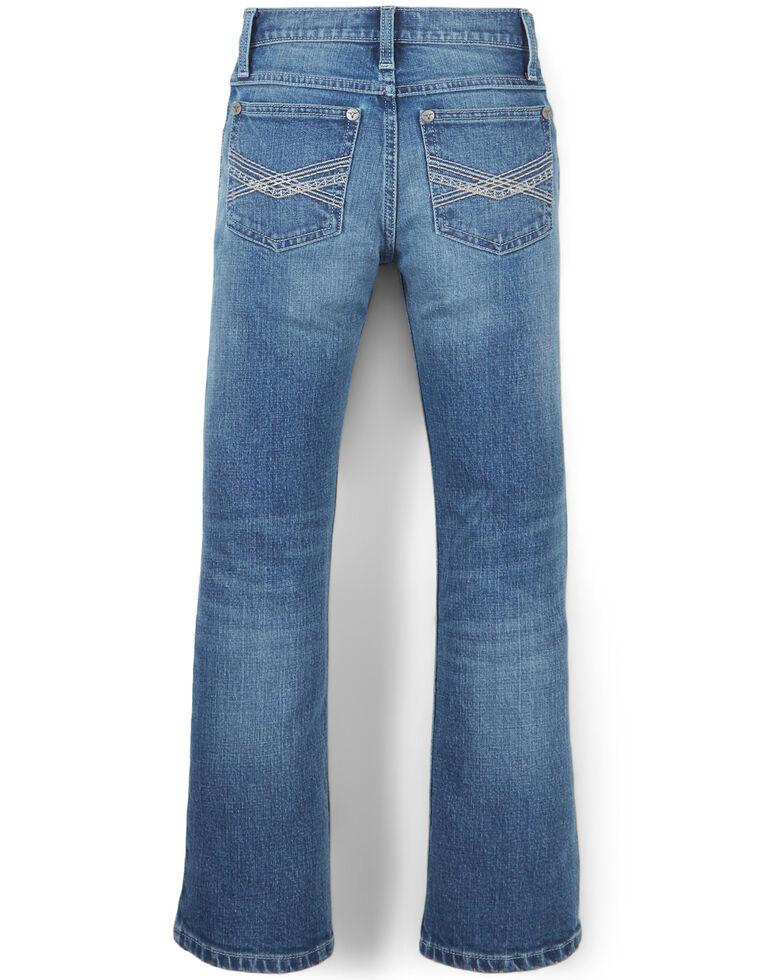 Wrangler 20X Boys' No. 42 Caprock Canyon Stretch Slim Bootcut Jeans , Blue, hi-res