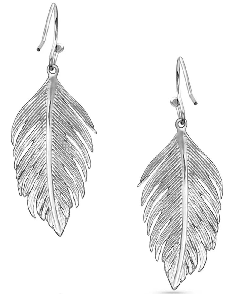 Montana Silversmiths Women's Light As A Feather Earrings, Silver, hi-res