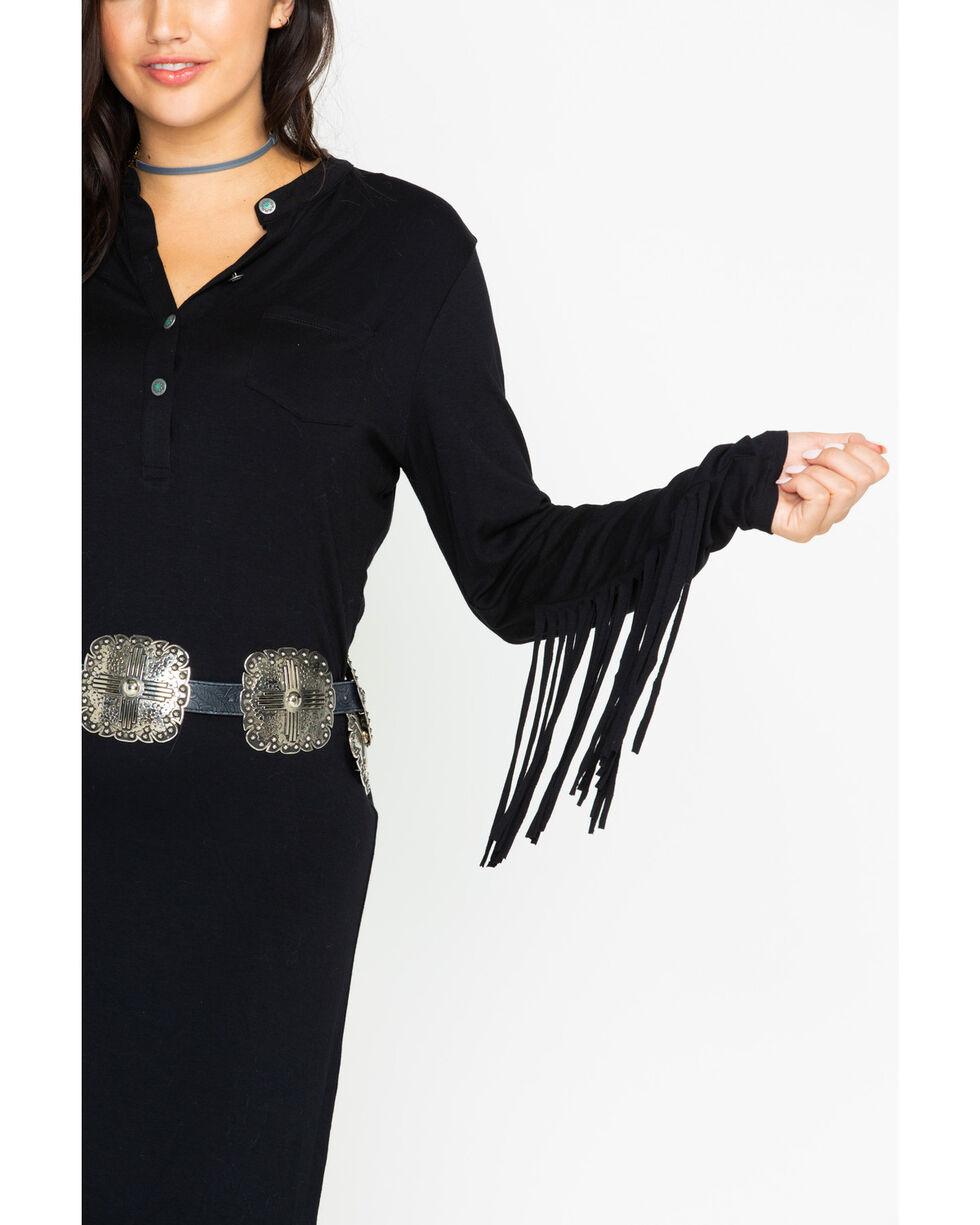 Tasha Polizzi Women's Goddess Dress, Black, hi-res