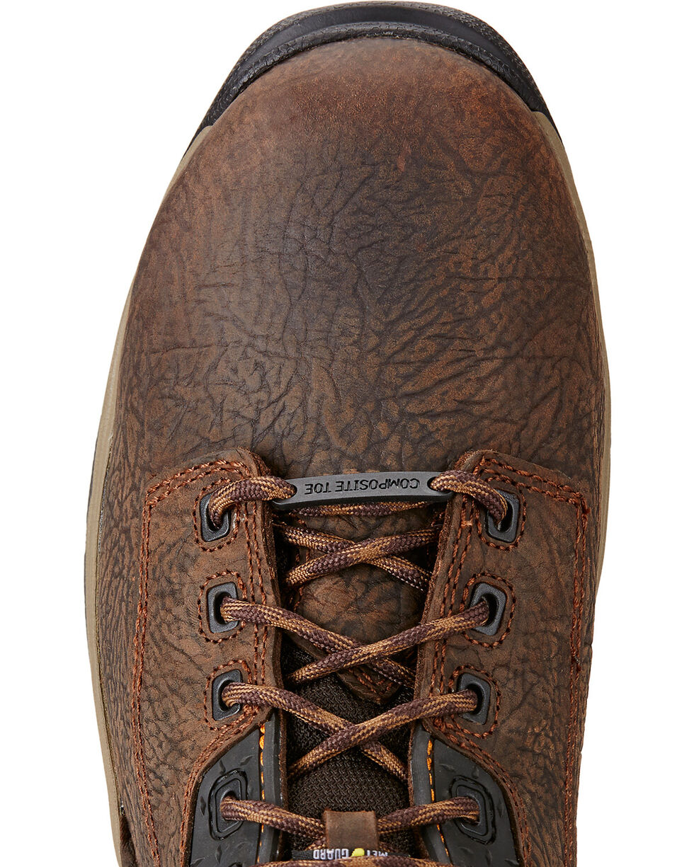 """Ariat Mastergrip 6"""" H2O Work Boots - Composite Toe, Brown, hi-res"""