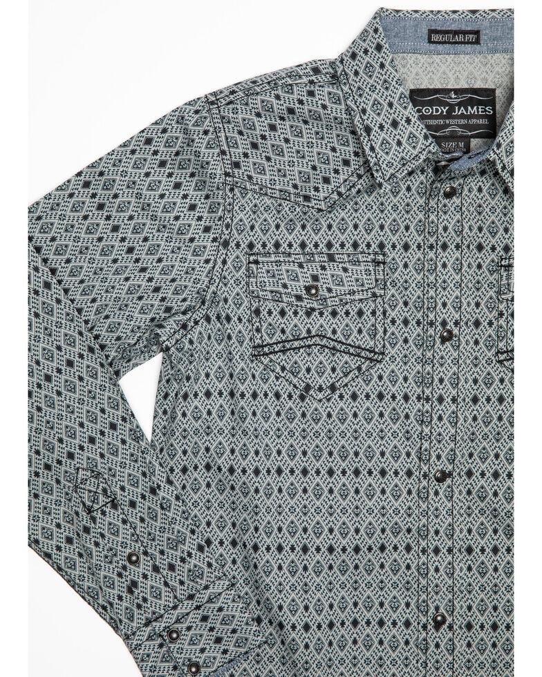 Cody James Boys' Zantana Aztec Print Long Sleeve Western Shirt , Grey, hi-res