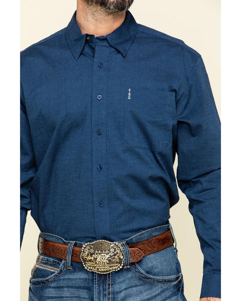 Cinch Men's Modern Fit Navy Solid Long Sleeve Western Shirt , Navy, hi-res