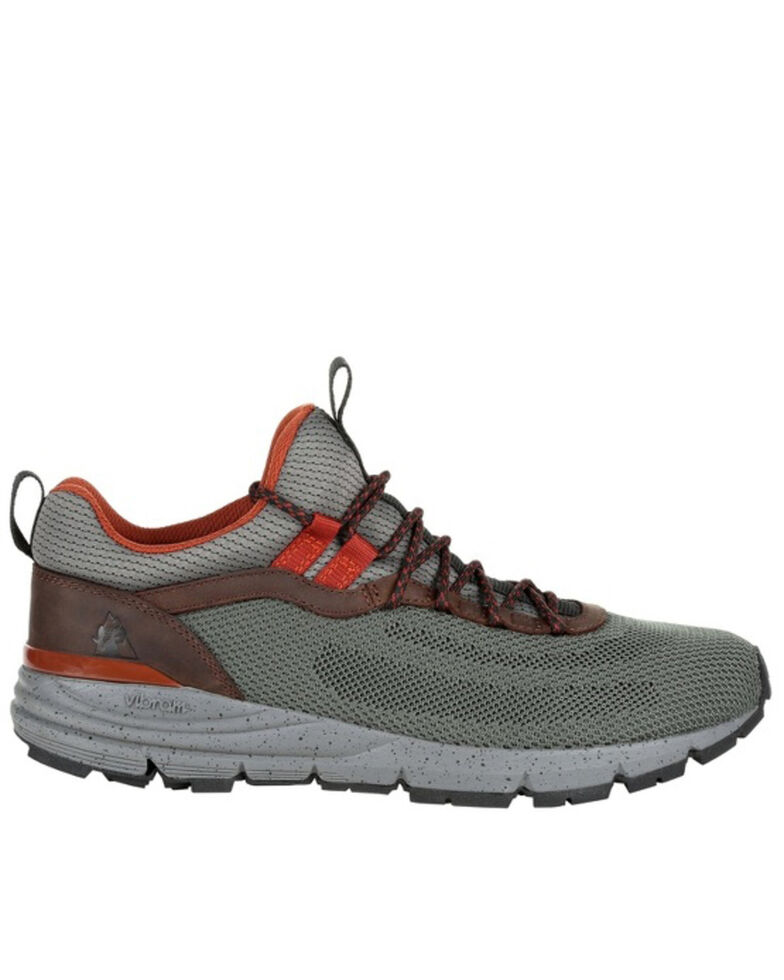Rocky Men's Green Rugged Outdoor Sneakers - Soft Toe, Green/brown, hi-res