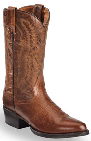 Dan Post Men's Cash Cowboy Boots - Medium Toe  , Cognac, hi-res