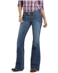 Ariat Women's Bella Flare Leg Jeans, Blue, hi-res