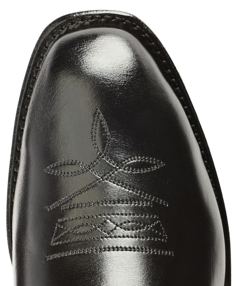 Boulet Men's Side Zip Ankle Boots - Square Toe, Black, hi-res