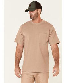Hawx Men's Solid Natural Forge Short Sleeve Work Pocket T-Shirt - Big, Natural, hi-res